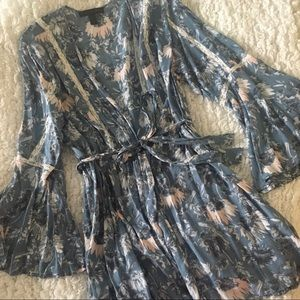 Midnight Bakery Floral House Coat
